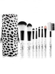 8 Pcs Daily Cow Print Makeup Brushes Kit