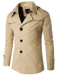 Splicing Design Single Breasted Coat -