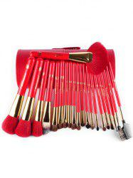 21 Pcs Animal Hair Makeup Brushes Set with Brush Holder