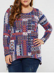 Plus Size Tribal Tee - COLORMIX XL
