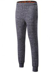 Lace-Up Sports Pants with Zip -
