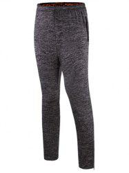 Sports Pants with Zip - GRAY 2XL