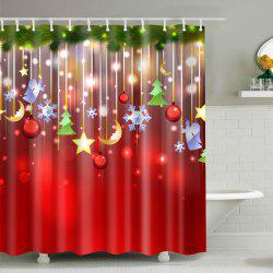 Christmas Waterproof Mouldproof Shower Curtain