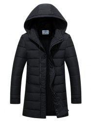 Slim Fit Zip Up Padded Hooded Quilted Coat -