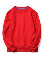 Crew Neck Pullover Sweatshirt in Loose Fit