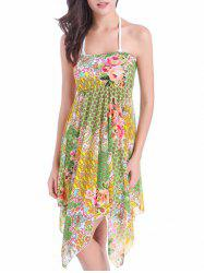Flower Print Convertible Cover Up Dress