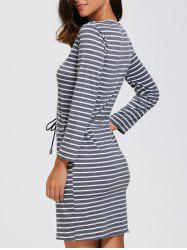 Double Pocket Stripe Dress
