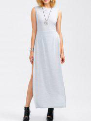 Sleeveless Round Collar Maxi Romper