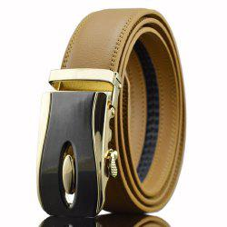 Automatic Buckle PU Wide Belt