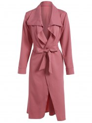Bowknot Lapel Wrap Coat and Belt