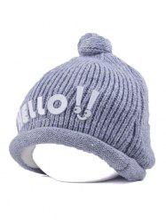 Winter Hello Embellished Chunky Knitted Hat -
