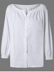 Single Breast Raglan Sleeve Blouse