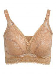 Wire Free Lace Panel Bra -