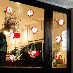 Merry Christmas DIY Removable Window Cabinet Wall Stickers