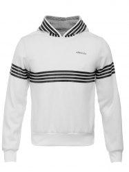 Hooded Stripe Design Flocking Hoodie