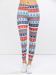 Christmas Ornate Print Leggings