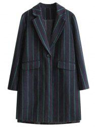 Furcal Stripe One Button Lapel Coat -