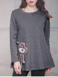 Big Eye Patched T-Shirt -