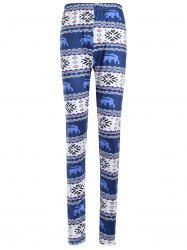 Skinny Geometric Print Christmas Leggings
