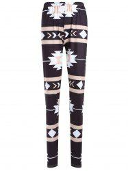Geometric Print Skinny Christmas Leggings