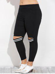 Plus Size Cut Out Skinny Pencil Pants