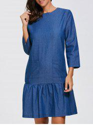 Double Pocket Denim Dress