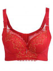 Lace Push Up Bra - RED