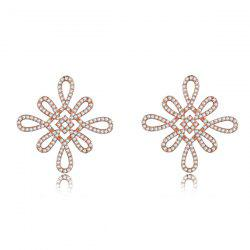 Rhinestone Chinese Knot Earrings