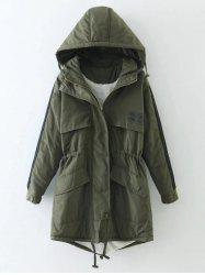Hooded Drawstring Puffer Coat