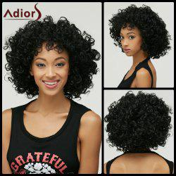 Afro Curly Synthetic Wig - BLACK