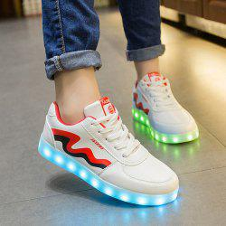 Unisex USB Charging Sports Shoes Flashing Sneakers -