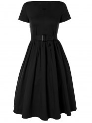 Plus Size Midi Pin Up Skater Dress