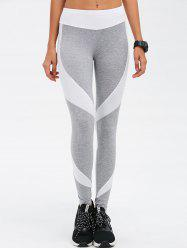 Stretchy Contrast Athletic Pants