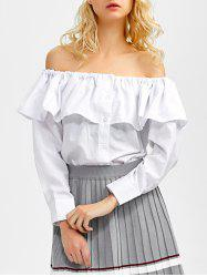 Off The Shoulder Ruffle Blouse -