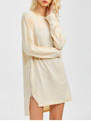 Zipped Tunic Jumper Dress -