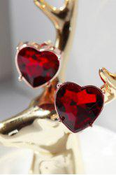 Ruby Heart Earrings -