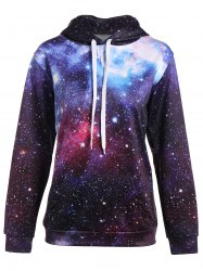 Sweat à poche kangourou à motifs galaxie - Multicolore 2XL