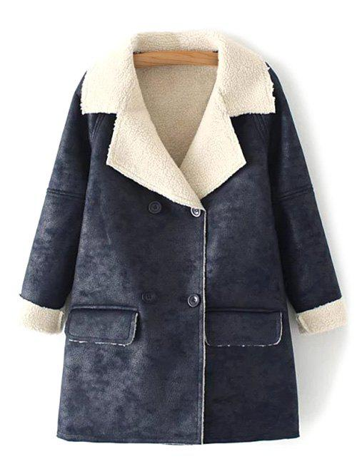 Store Faux Shearling Suede Peacoat