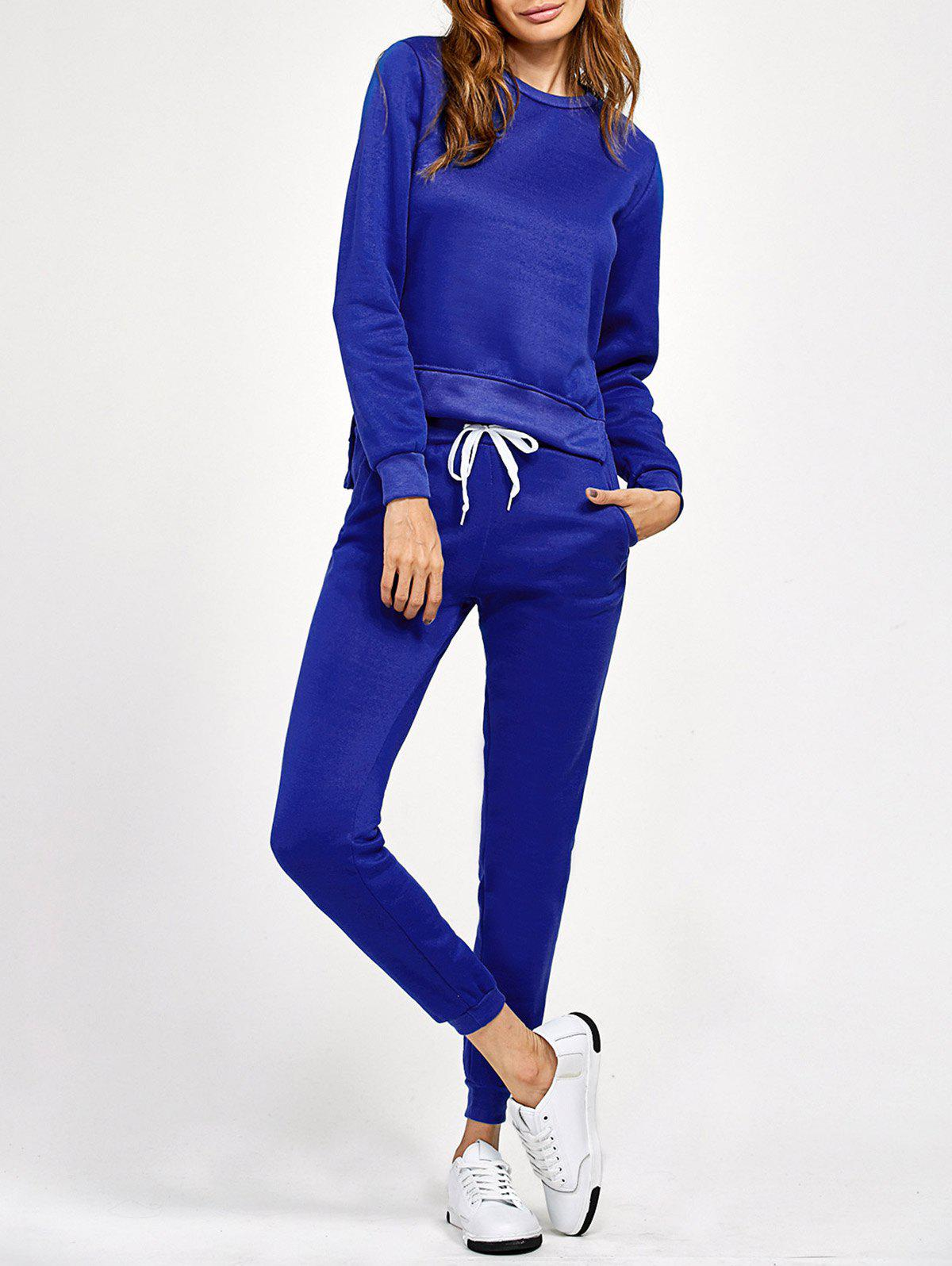 Shops Side Slit High Low Sweatshirt and Pants