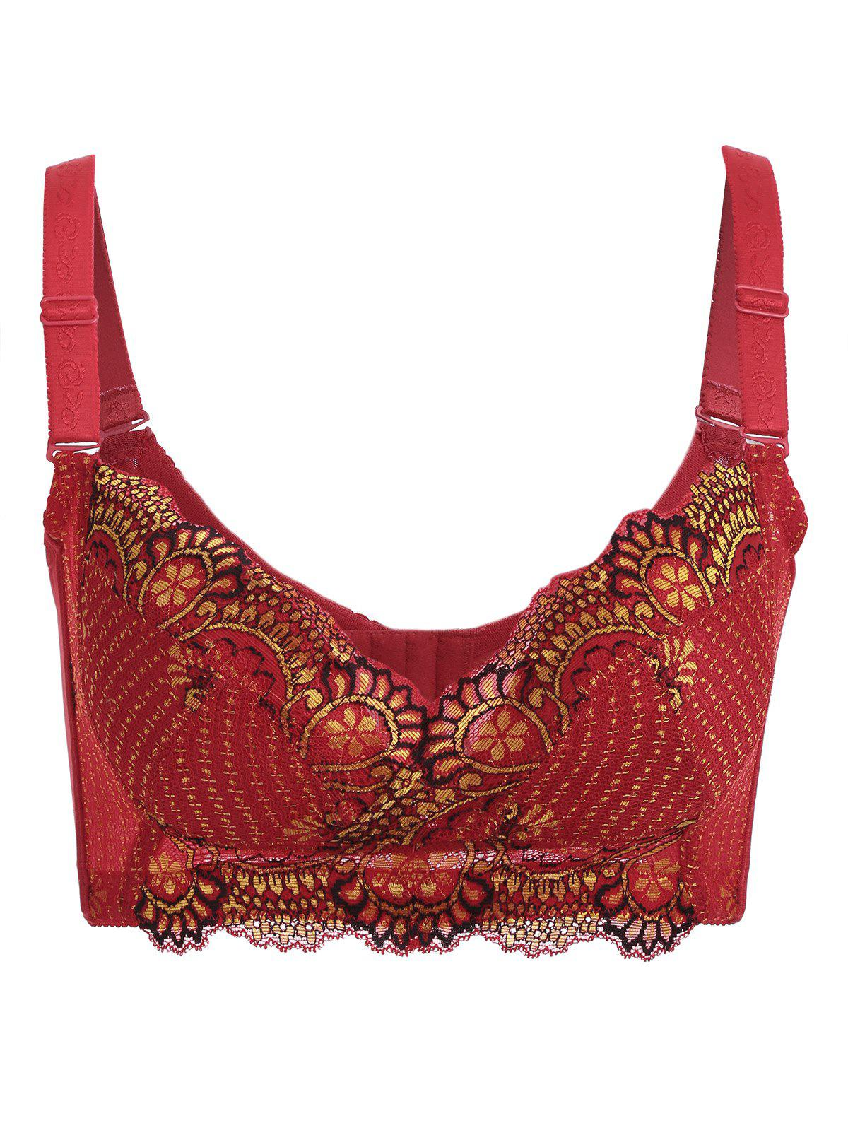 Buy Wire Free Embroidery Padded Bra