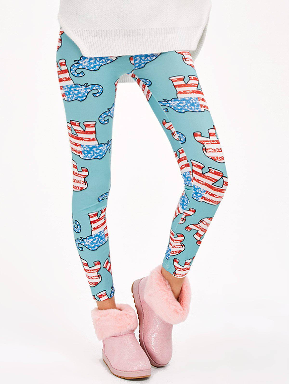 Hot Abstract Elephant Print Stretchy Leggings