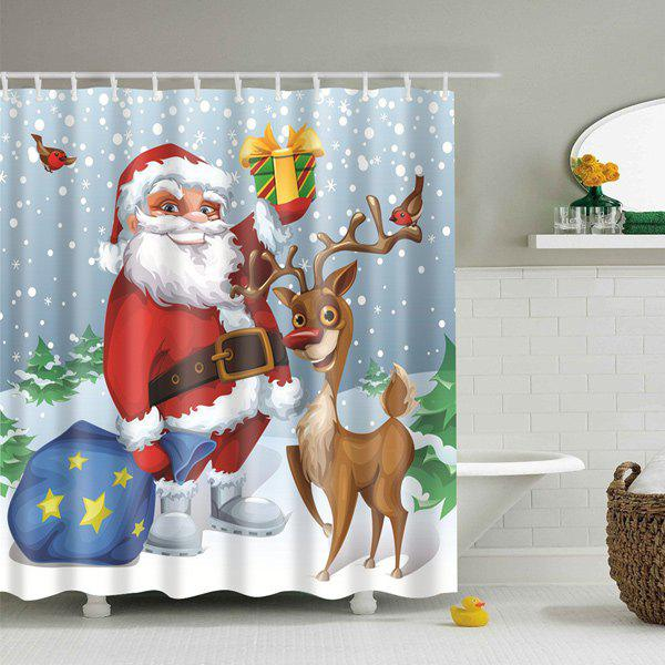 Christmas Gift Elderly Bathroom Polyester Shower CurtainHOME<br><br>Size: S; Color: LIGHT BLUE; Type: Shower Curtains; Material: Polyester; Weight: 0.5400kg; Package Contents: 1 x Shower Curtain;