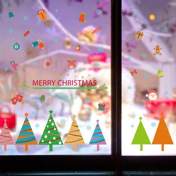 Christmas Removable DIY Room Decor Wall StickersHOME<br><br>Color: COLORFUL; Wall Sticker Type: Plane Wall Stickers; Functions: Decorative Wall Stickers; Theme: Christmas; Material: PVC; Feature: Removable; Size(L*W)(CM): 50*70; Weight: 0.260kg; Package Contents: 1 x Wall Stickers;