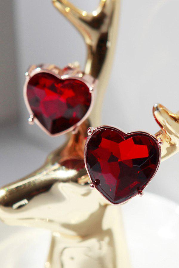 Latest Ruby Heart Earrings