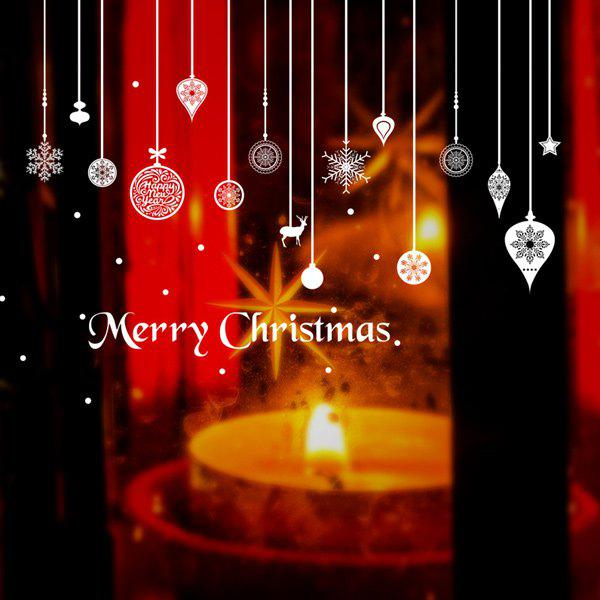 Merry Christmas DIY Pendants Removable Wall StickersHOME<br><br>Color: WHITE; Wall Sticker Type: Plane Wall Stickers; Functions: Decorative Wall Stickers; Theme: Christmas; Material: PVC; Feature: Removable; Size(L*W)(CM): 60*90; Weight: 0.375kg; Package Contents: 1 x Wall Stickers;