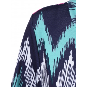Plus Size Zigzag Asymmetrical T-Shirt - PURPLISH BLUE XL
