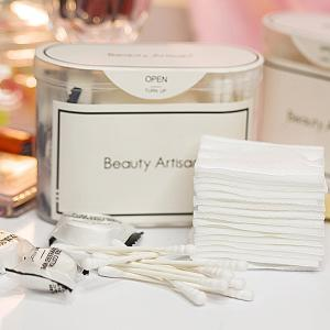 Travel Kit Compressed Wipes + Cotton Buds + Makeup Cottons - WHITE
