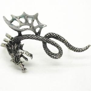 Noctilucence Wing Dragon Ear Cuff - SILVER