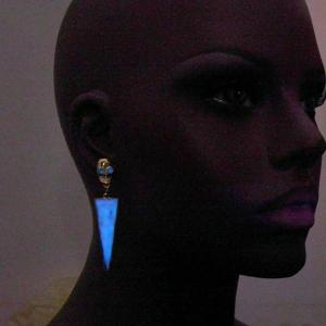 Noctilucence Skull Triangle Earrings -