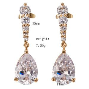 Rhinestone Water Drop Earrings -